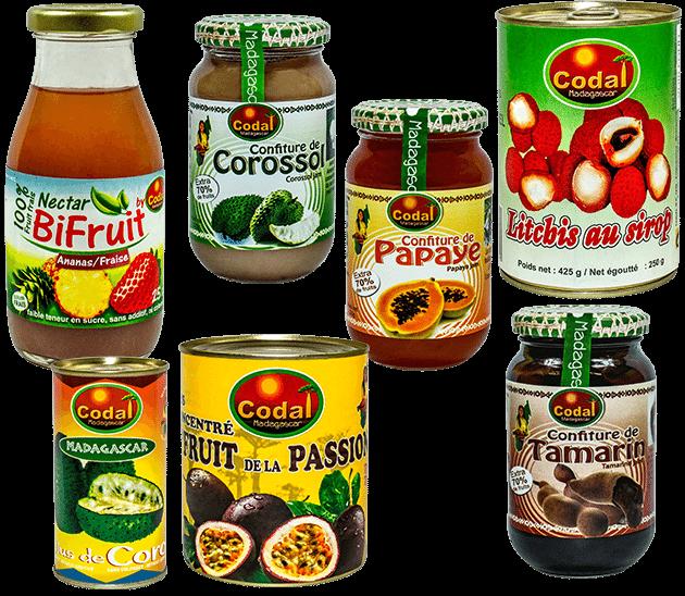 Fruits préparés codal Madagascar