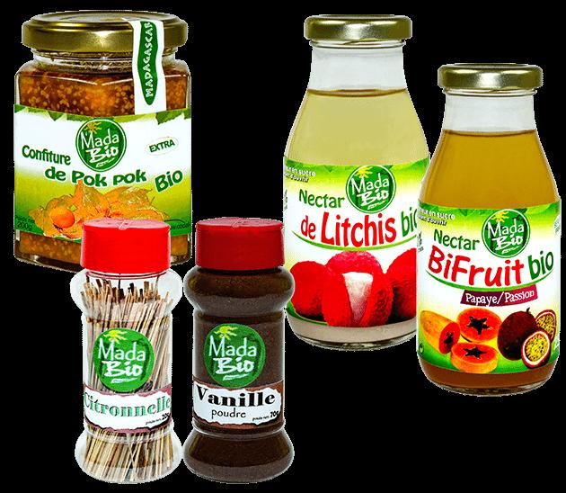 Produits alimentaires bio organique codal Madagascar