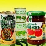 les confitures, fruits au sirop, jus, poivre vert, différentes variétés de riz et tout nouveau notre sucre de canne complet.