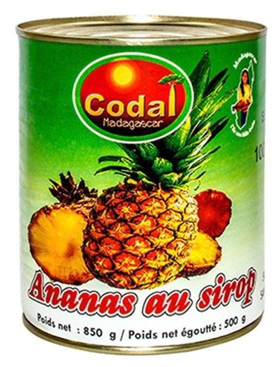 Ananas au sirop léger