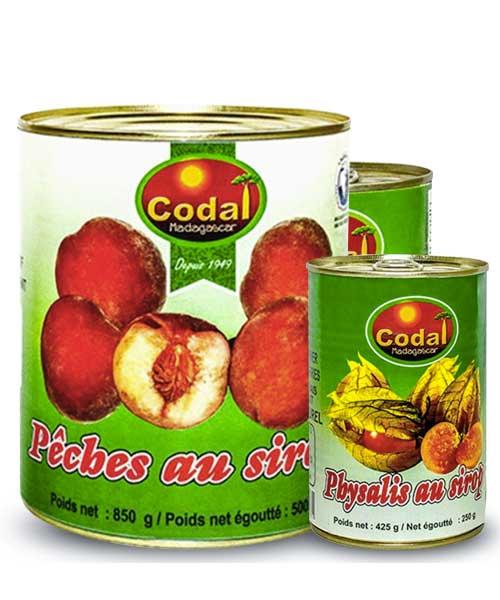 Fruits in syrup - Codal Madagascar