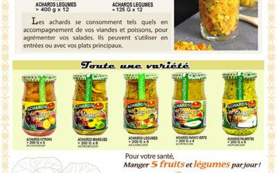 Achards de légumes, Notre spécialité !