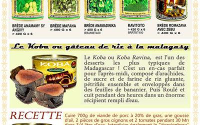 La plus large gamme de produits typiques de l'art culinaire Malagasy